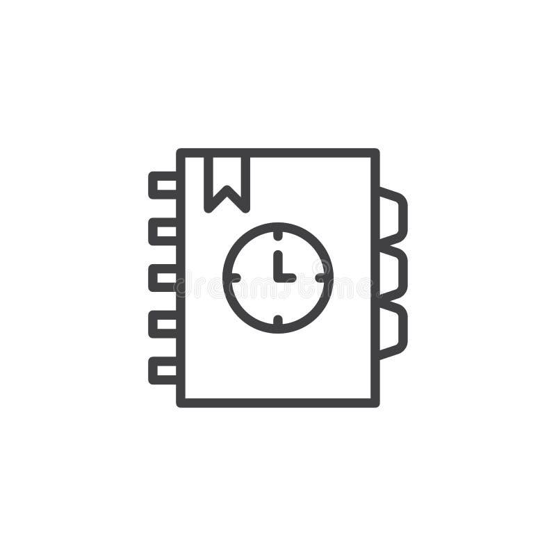Agenda outline icon royalty free illustration