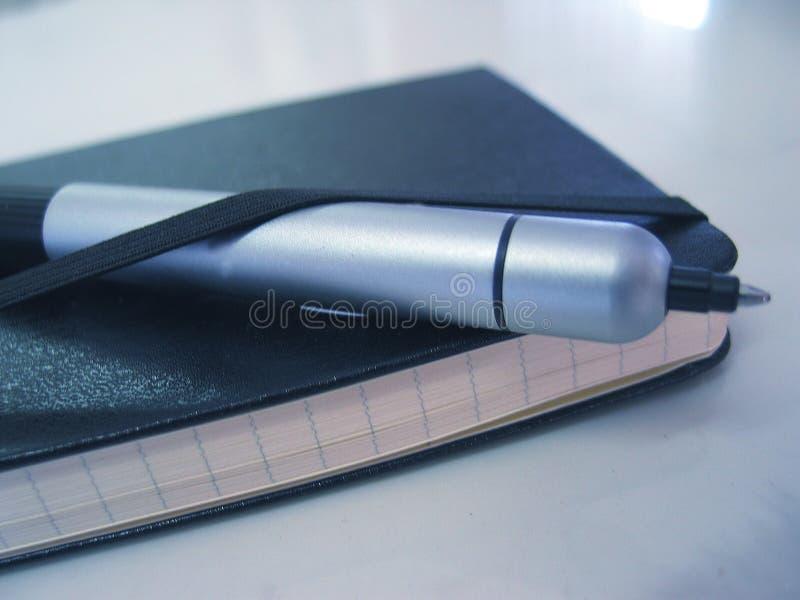 Agenda & pen stock images