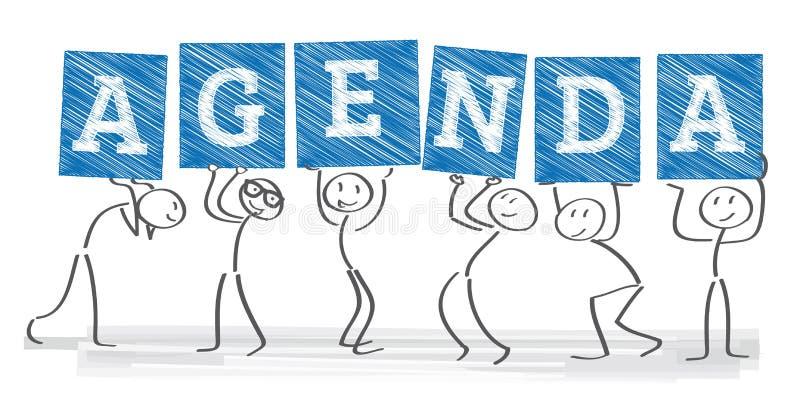 Agenda vector illustration