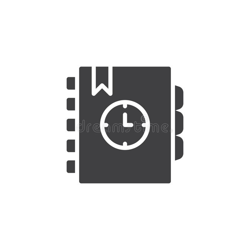 Agenda vectorpictogram vector illustratie