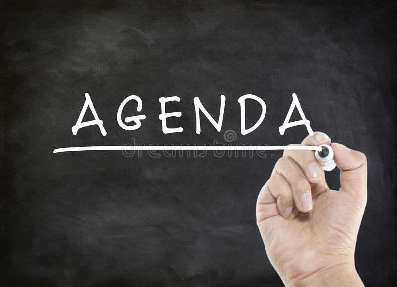 Agenda z ręki writing obrazy royalty free