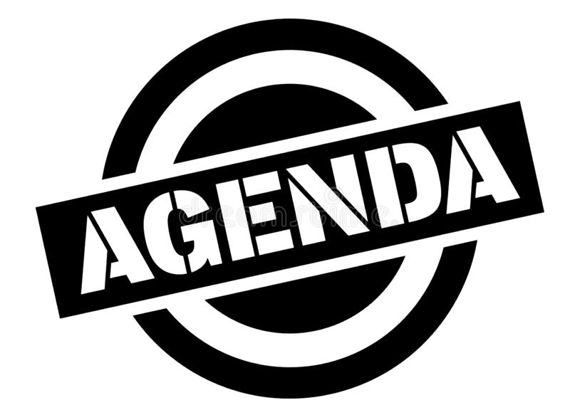 Agenda znaczek na bielu royalty ilustracja