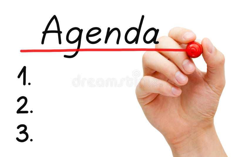 Agendaconcept royalty-vrije stock afbeelding