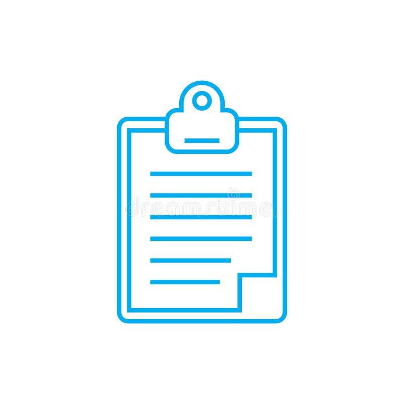 Agendy ikony liniowy pojęcie Agenda wektoru kreskowy znak, symbol, ilustracja royalty ilustracja
