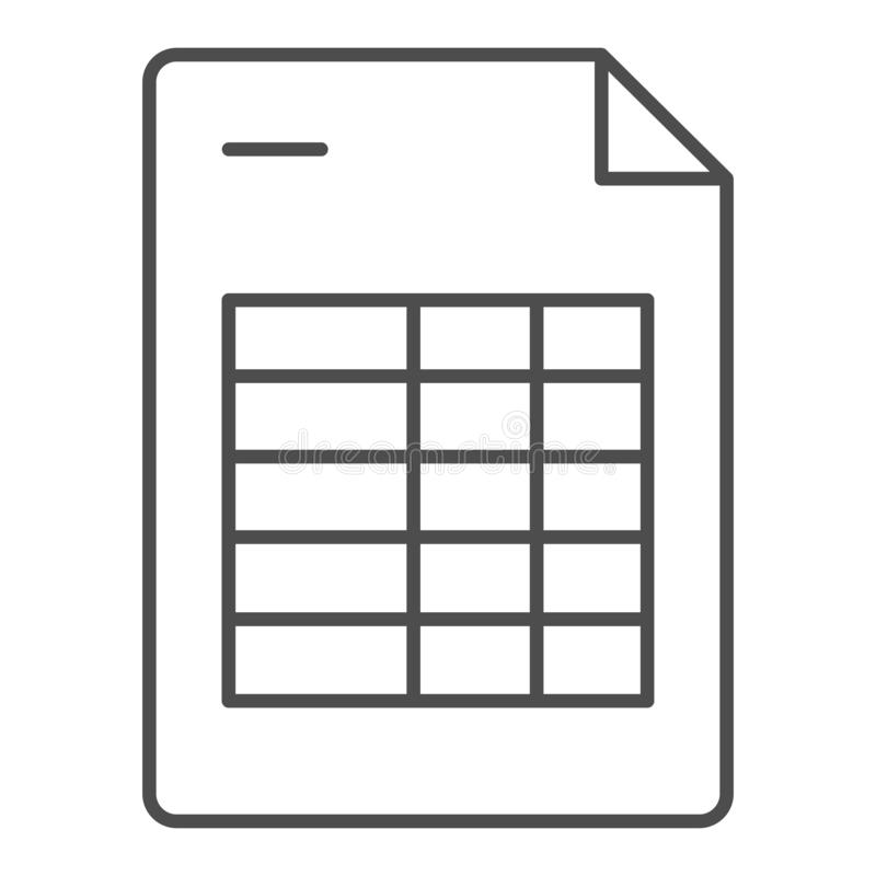 Agendy listy cienka kreskowa ikona Rozkład zajęć nutowa wektorowa ilustracja odizolowywająca na bielu Kalendarzowego programa kon ilustracja wektor