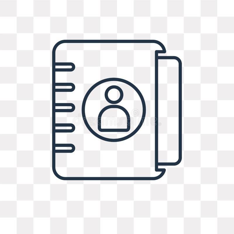 Agendy wektorowa ikona odizolowywająca na przejrzystym tle, liniowy Ag ilustracja wektor