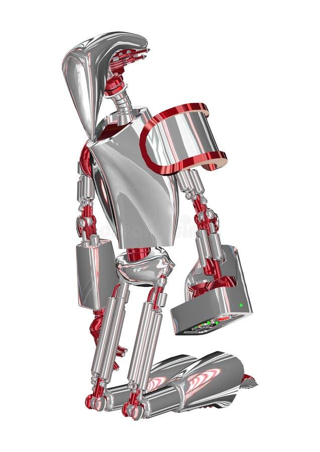 Agenouillement Droid illustration de vecteur