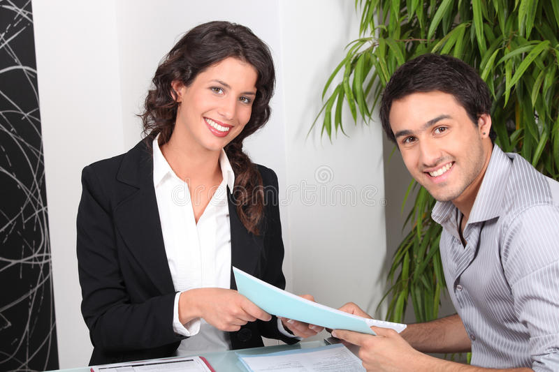 Agent and client stock images
