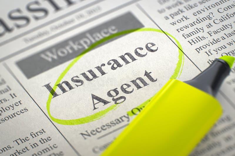 Agent d'assurance Hiring Now illustration 3D illustration de vecteur
