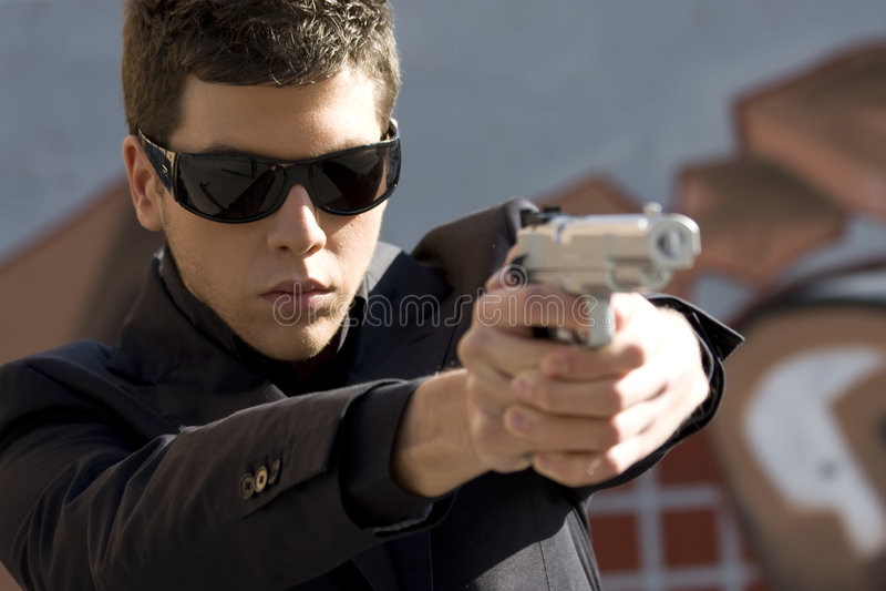 Agent dans l'action image stock