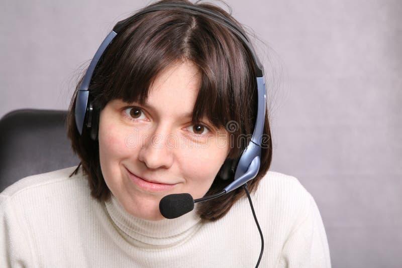 Agent de service d'appel images stock