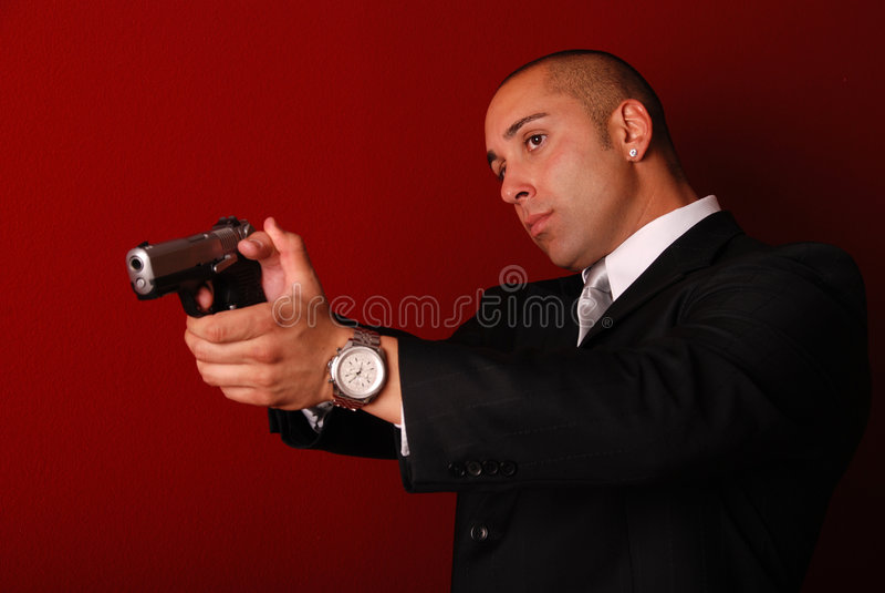 Agent de service secret. photo stock