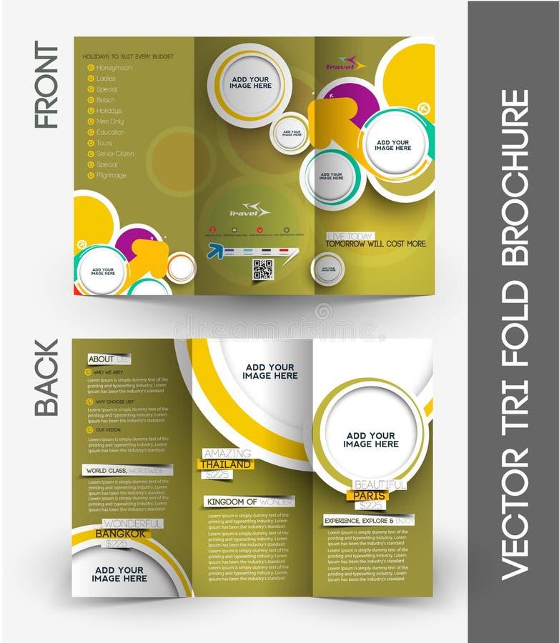 Agent de voyage Tri-Fold Brochure illustration libre de droits