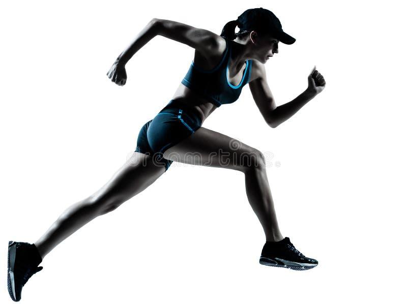Agent die van de vrouw jogger de loopt stock afbeeldingen