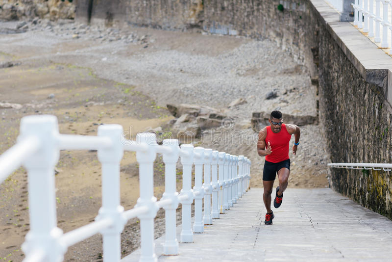 Agent die voor beenmacht opleiding sprinten royalty-vrije stock afbeelding