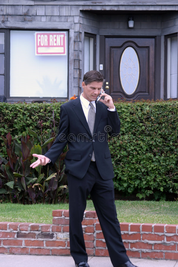 Agent immobilier, homme d'affaires, série images stock