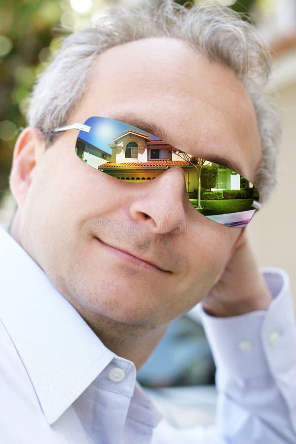 Agent immobilier réel images libres de droits
