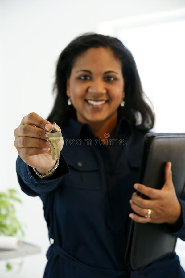 Agent immobilier réel photo stock