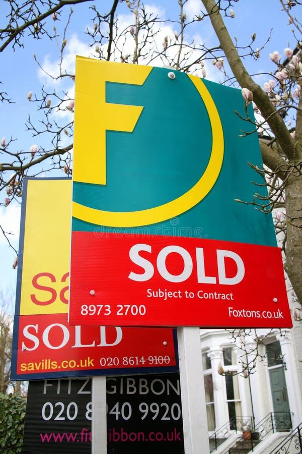 Agent immobilier Signs photos libres de droits