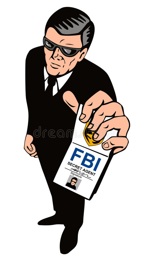 Agent secret affichant l'insigne illustration libre de droits