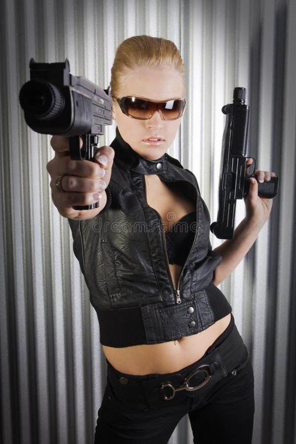 Agent secret femelle photo libre de droits