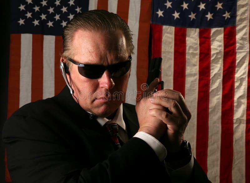 agent secret service fotografia stock
