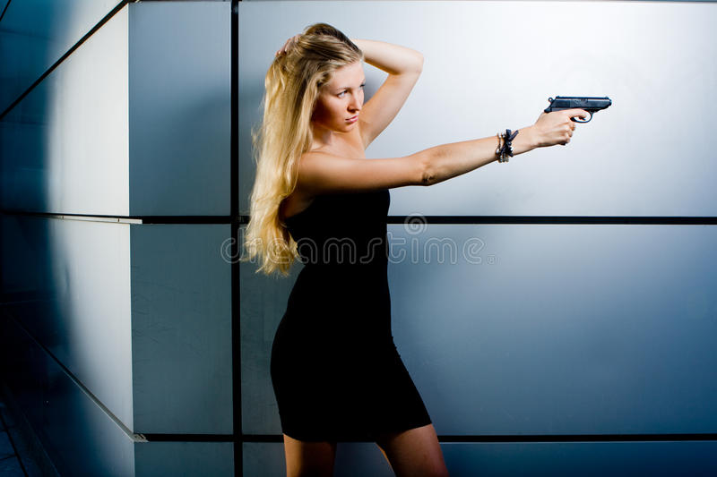 Agent secret sexy photographie stock libre de droits