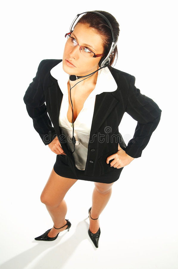 Agent sexy 5 de centre d'appel photo libre de droits