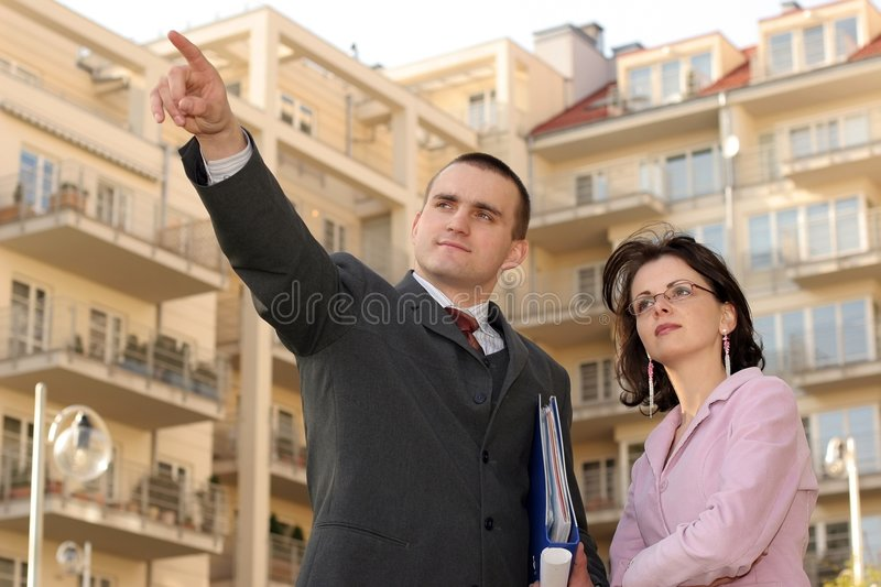 Download Agent Showing Flat Location Stock Image - Image: 1689339
