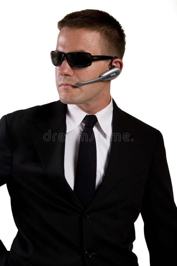 agenta pistolet dosięga sekret zdjęcia stock