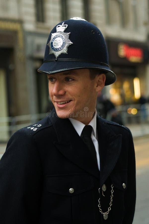 Agente da polícia britânico fotos de stock