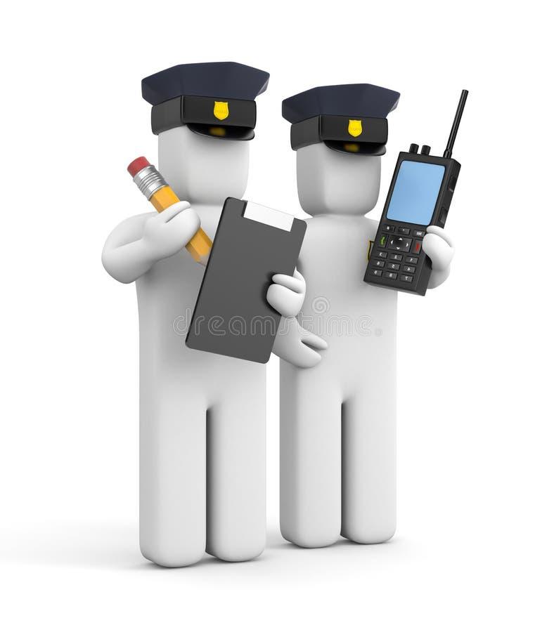 Agente da polícia dois ilustração do vetor