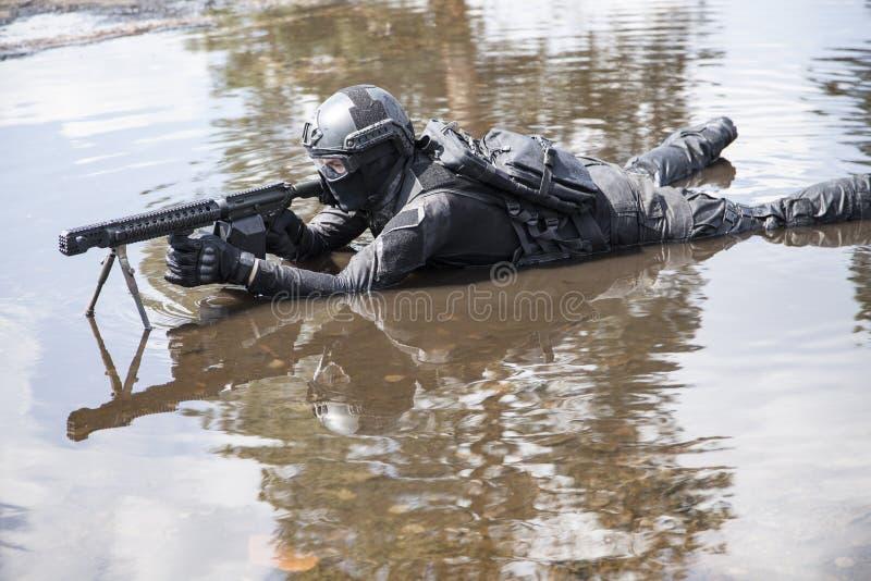 Agente da polícia dos ops das especs. fotos de stock