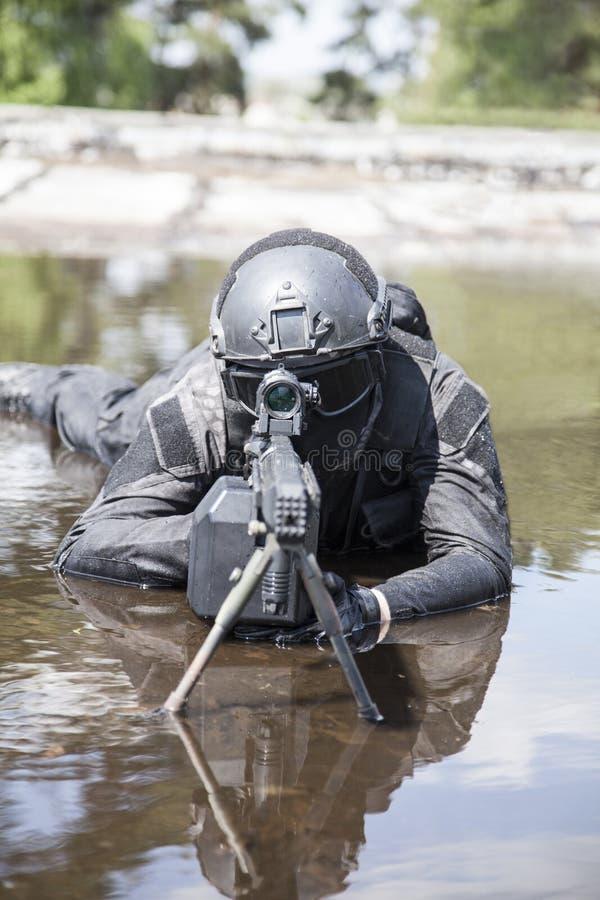 Agente da polícia dos ops das especs. imagens de stock