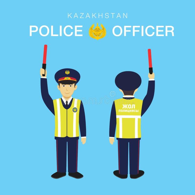 Agente da polícia em Kazakhstan-2 imagem de stock
