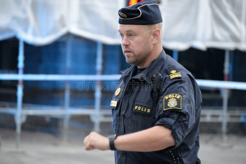 Agente da polícia sueco fotografia de stock