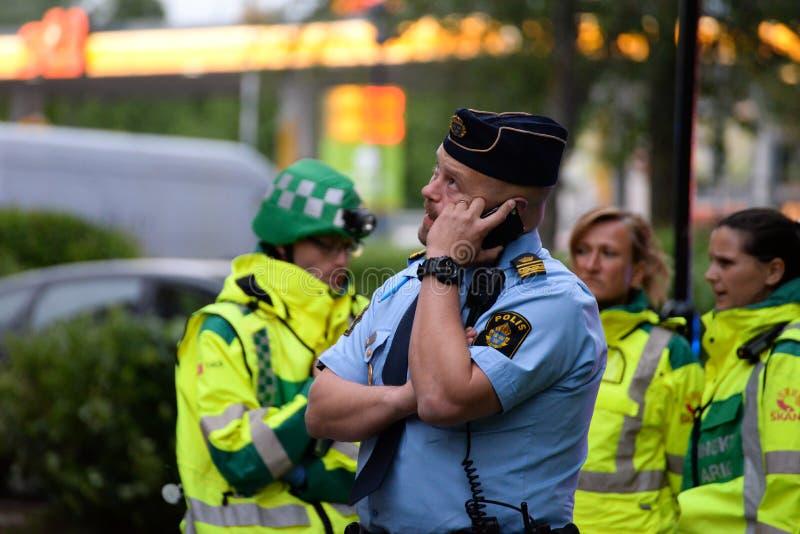 Agente da polícia sueco imagens de stock