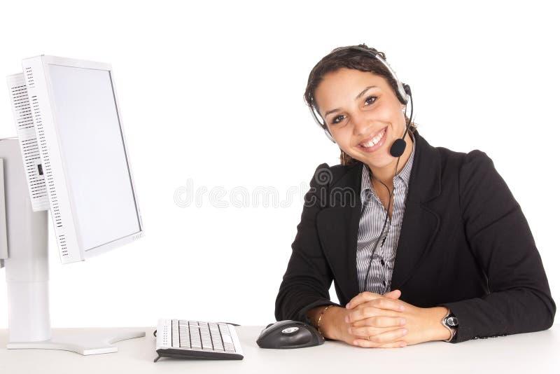 Agente da sustentação da mulher imagem de stock