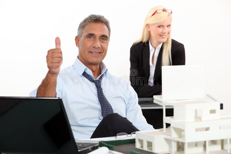 Agente de la propiedad inmobiliaria foto de archivo libre de regalías