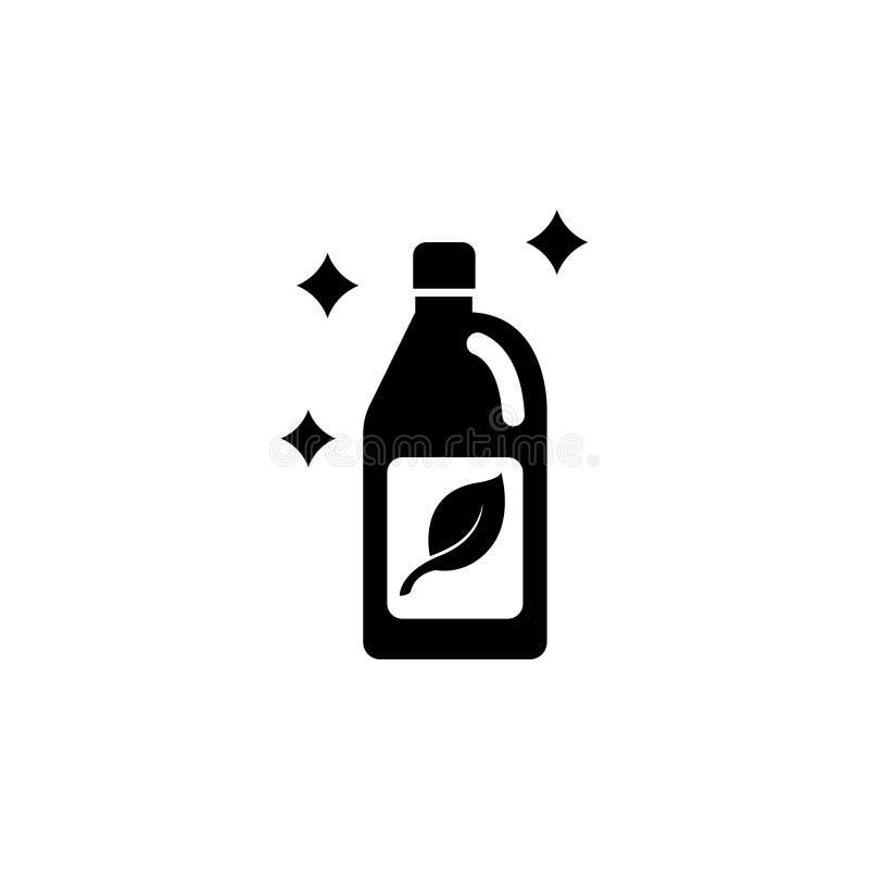 Agente de limpieza Flat Vector Icon stock de ilustración