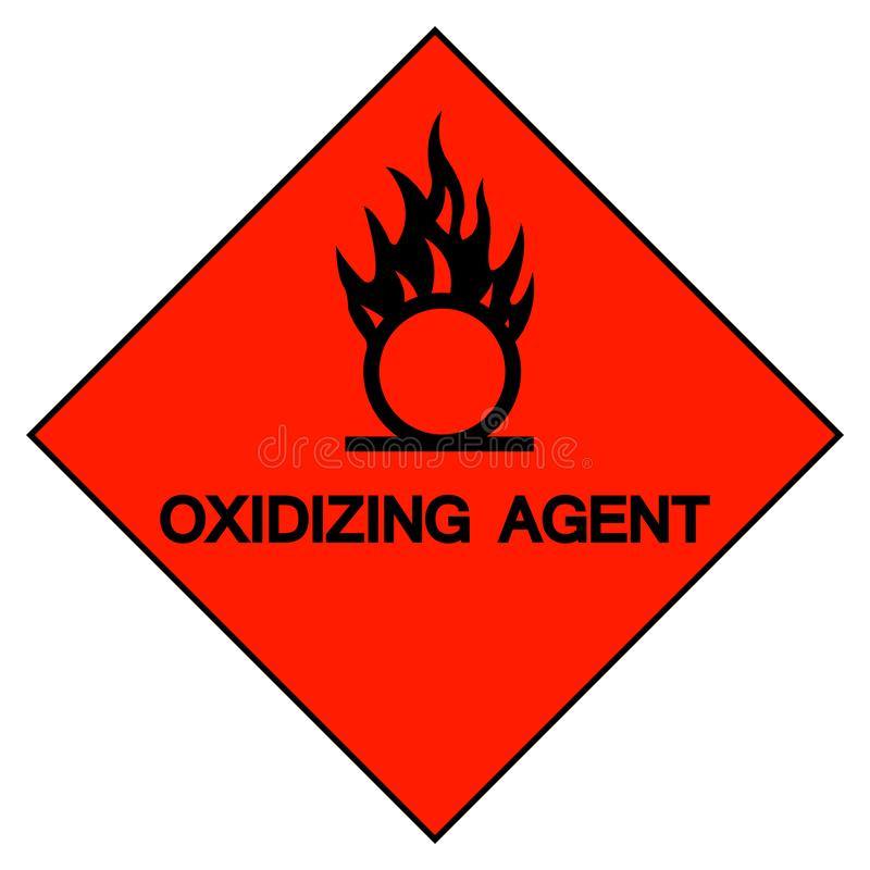 Agente de oxidação Symbol Sign, ilustração do vetor, isolado no fundo branco, etiqueta EPS10 ilustração royalty free