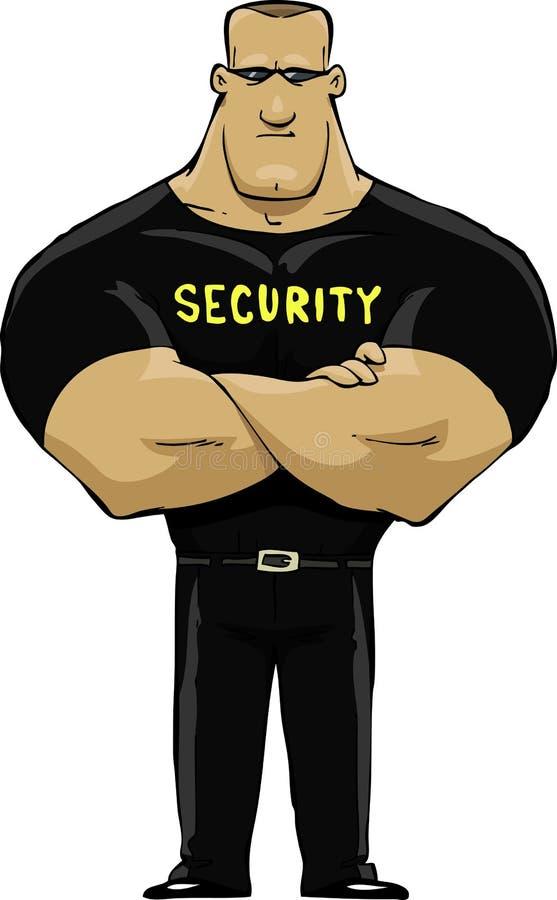 Agente de segurança ilustração stock