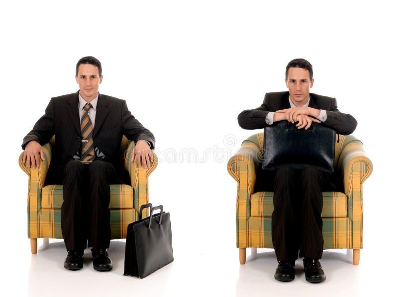 Agente de seguro del hombre de negocios imagen de archivo