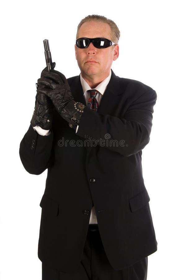 Agente de servicio secreto. fotos de archivo libres de regalías