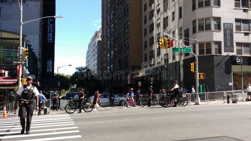 Agente de servicio secreto, oficiales de policía, NYC, NY, los E.E.U.U. foto de archivo libre de regalías