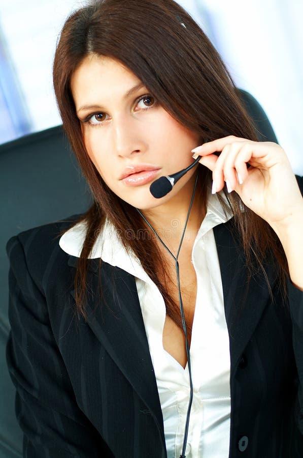 Agente del centro de atención telefónica foto de archivo