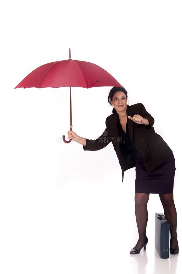Agente di assicurazione della donna di affari fotografie stock