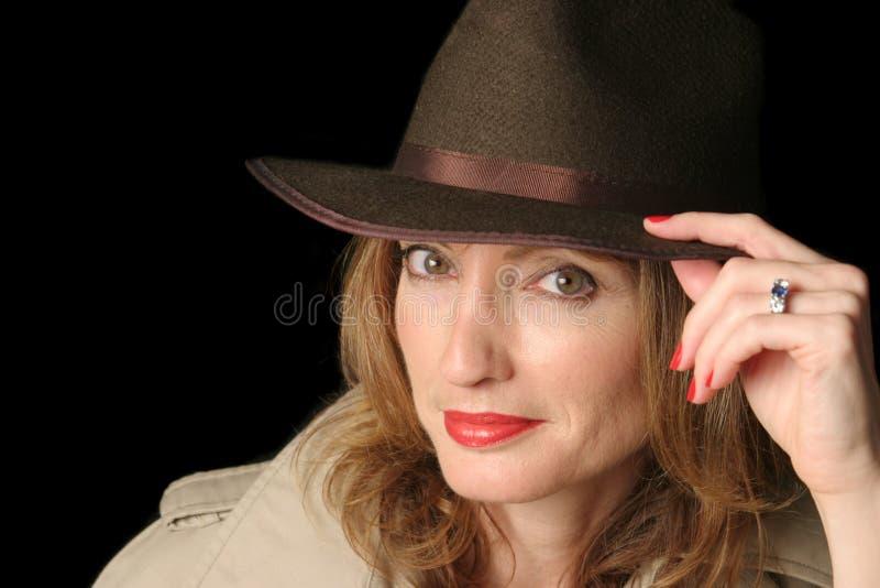 Agente fêmea 'sexy' fotografia de stock royalty free