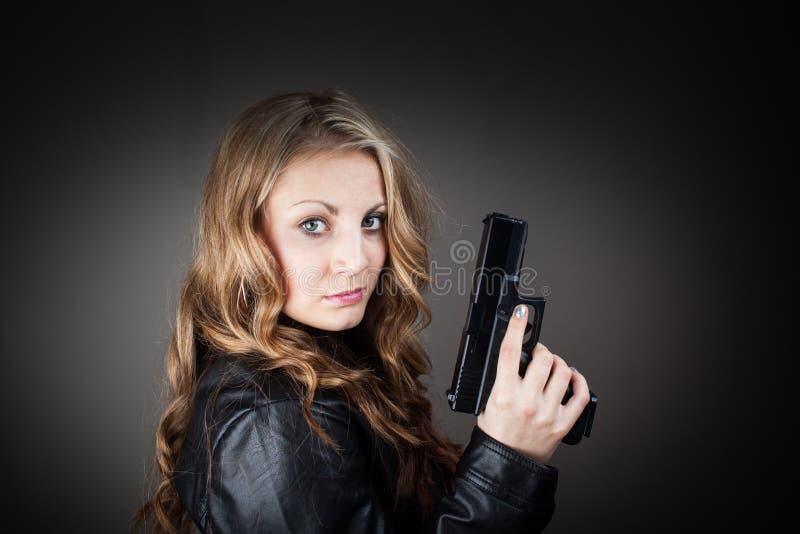 Agente femenino de alto secreto fotos de archivo