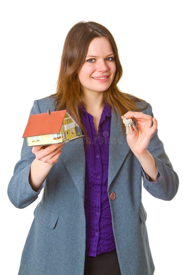 Agente immobiliare femminile fotografie stock libere da diritti